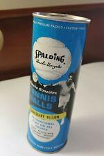 "Vintage 1970's Spalding ""Pancho"" Gonzales Tennis Balls In Original Can Nos"