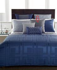 """Hotel Collection Quadre Blue 20"""" Square Decorative Pillow Dusk"""