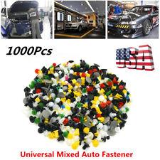 Auto Car Door Bumper Fenders Fastener Retainer Rivet Push Pin Clip 1000Pcs Mixed