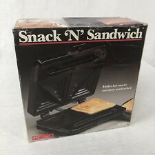SALTON Snack 'N' Sandwich sandwich snack maker grill toaster NEW old stock