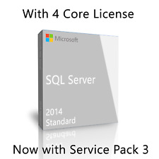 Microsoft SQL Server 2014 Standard SP3 with 4 Core License, unlimited User CALs