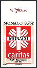 MONACO n° 2971, CARITAS, NON DENTELE IMPERF, TB ** et RARE