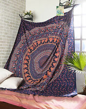 INDIAN URBAN OUTFITTERS  MANDALA Twin TAPESTRY WALL HANGING BEDSPREAD THROW