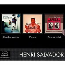 HENRI SALVADOR - Chambre Avec Vue+S'Amuse+Zorro 3-CD Box  NEU+OVP-SEALED!