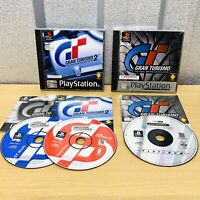GRAN TURISMO 1 & 2 (Platinum & Black Label) - Sony PlayStation 1 PS1 PAL