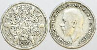 1928 to 1936 George V Silver Sixpence Second Design Your Choice of Date / Year