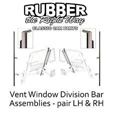 1961 - 1966 Ford Truck Vent Window Division Bar Assemblies Pair LH & RH USA MADE