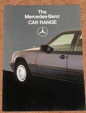 1986 MERCEDES BENZ Sales Brochure inc 190E 2.3-16, 500SL 300TE 560SEC 230E 280GE