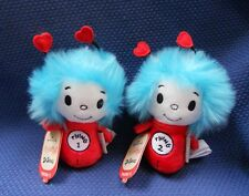 HALLMARK SET OF TWO DR. SEUSS  ITTY BITTYS PLUSH ~ THING 1 AND THING 2