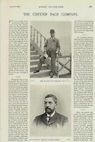 """1896 racing illustrated print titled """" chester race company """""""