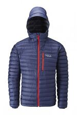 NUOVO RAB Microlight Alpine DOWN JACKET-Colore Blu Scuro Crepuscolo-EXTRA LARGE (XL)