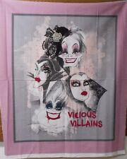 "1 Disney ""Vicious Villains"" Panel  Fabric"