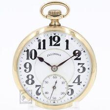 Gold 1922 Illinois Bunn Special 21 Ruby Jewel RAILROAD Grade Pocket Watch 16s