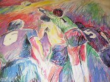 ORIGINAL ART ARTIST PROOF JULI VEEE SAN DIEGO SOCCERS AP LE GUARDIAN DE BUT