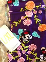NWT 😱LuLaRoe L/XL KIDS Disney Minnie Mickey Purple Peach Floral Kids Leggings