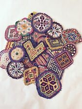 Large Kuchi Afghan Tribal Beaded Dress Medallion 30 Wholesale Medals Job lot