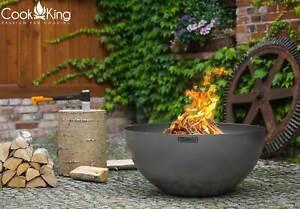 Tiefe Premium Feuerschale DALLAS Ø 85 cm Feuerstelle Gartenfeuer HANDARBEIT