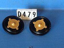 (D479) playmobil 2 boucliers noir et doré, chevalier chateau 3666 3268