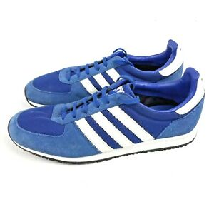 ADIDAS Originals Adistar Racer Trainers Blue and White Stripe Size UK 8 VGC