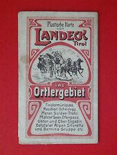 Ancienne carte plastique de Landeck dans le Tyrol Ortler région de 1905 (7930