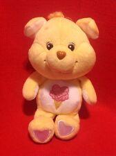 "RARE CARE BEARS COUSINS TREAT HEART PIG 8"" BEAN BAG PLUSH 2004 RETIRED HTF"