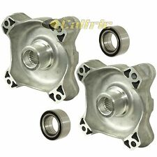 FRONT LEFT RIGHT WHEEL HUBS and BALL BEARINGS Fits POLARIS RZR 800 EFI 2008-2014