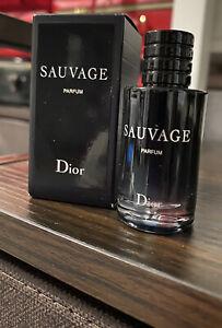Dior SAUVAGE PARFUM Men's Mini  Splash Bottle New In Box 10mL /.34oz