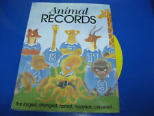 Libro  ANIMAL RECORDS tapa dura tamaño A4 EN INGLES