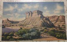 Castle Butte Montana Badlands vintage unused linen postcard Mt
