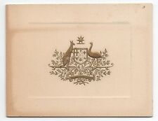 Rare 1930s Commissioner General of Australia to Us Card