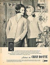 PUBLICITE ADVERTISING 044  1961  LAINES DU CHAT BOTTE    NENUPHAR