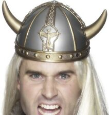 Adult Viking Helmet with Horns Fancy Dress Vikings Hat by Smiffys New