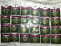 Lot des 24 médailles encartées du FC Barcelona - Arthus Bertrand - 2012