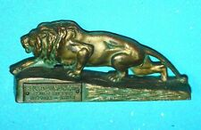 Antique Pell+Dumont Crude Rubber Akron NY Lion Advertisement 1919 Paperweight