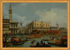 Bucentaurs return to the pier by the Palazzo Ducale Canal Venedig B A1 02077