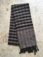 Krama Brown Black Traditional Scarf Khmer 100% Cotton Woven Cambodia 117