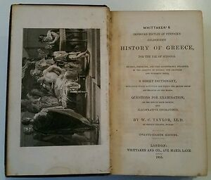 ANTIQUE BOOK.1855.THE HISTORY OF GREECE.447 PAGES.MAP.ILLUSTRATED.PROP/DISPLAY.