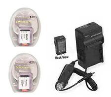 2X Batteries +Charger for Sony DSC-HX50V DSCHX50V/B DSC-WX300 DSCWX300B HDR-AS30