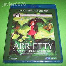 ARRIETTY MUNDO DE LOS DIMINUTOS STUDIO GHIBLI BLU-RAY + DVD NUEVO Y PRECINTADO