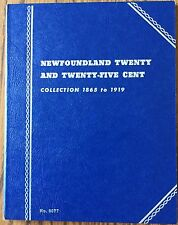 Newfoundland Twenty and Twenty Five Cent Canada Whitman Folder #9077 NOS