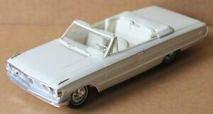 Vintage 1964 Ford Galaxie 500 White Convertible Promo Car
