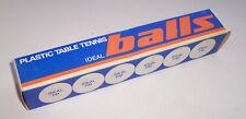Czechoslovakia 1980th table tennis pingpong 6 Ideal balls