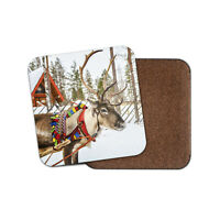 Reindeer In Lapland Coaster - Festive Christmas Winter Finland Xmas Gift #16678