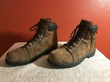 New listing Wolverine Brown Leather Thermolite Oil Resistant Work Boots Lace Up Mens 13 M
