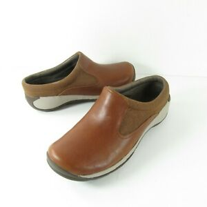 Merrell Encore Q2 Slide Brown Leather J45822 Comfort Shoes Women's Size 8