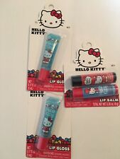 Hello Kitty  Lip Gloss and Lip Balm 4 Piece Girl Gift Party