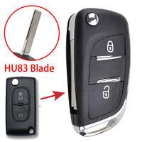 CE0536 HU83 Blade Car Key Shell For Peugeot 308 207 307 3008 Key Remote Fob Case