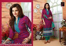 Embroidered Designer Indian Cotton Salwar Kameez Dress Material Unsitched 8006