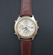 Calidad Vintage De Acero Inoxidable Reloj Seiko SQ-50 cronógrafo de cuarzo. MBC/Gwo