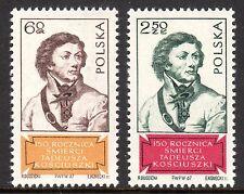 Poland - 1967 Tadeusz Kosciuszko - Mi. 1806-07 MNH